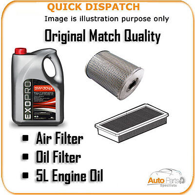 AIR OIL FILTERS AND 5L ENGINE OIL FOR CITROEN SAXO 1.1 2000-2005 726