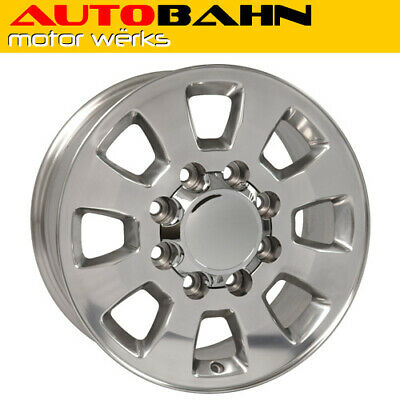 18x8 Polished Silverado 2500 HD Style 8 Lug Wheel Rim Fits Chevrolet IH1223