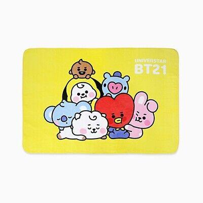 BTS BT21 Universtar Baby Together Flannel Blanket K POP Cute Character
