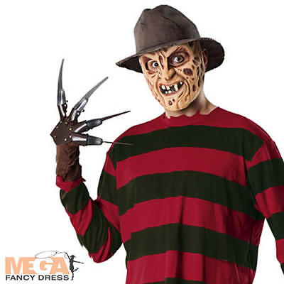 Fancy Dress Halloween Horror Costume Adult Outfit + Mask (Freddy-krueger Outfit)