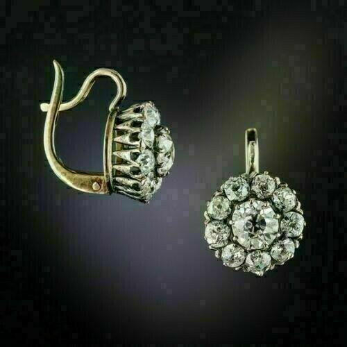Dangle Drop Wedding Vintage Art Deco Earrings 2.3 Ct Diamond 14K White Gold Over