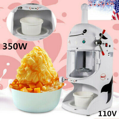 350w Electric Snow Shaver Ice Cream Shaving Maker Machine Crusher Commercial