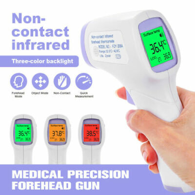 Infrared Forehead Thermometer No-Touch Adult Temperature Fever LCD Digital gUN