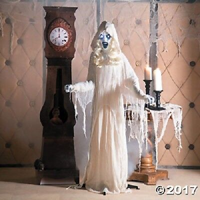 Life Sized Ghost Girl 5' Ft Halloween Prop Home Porch Crazy Woman Decoration NEW