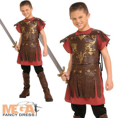 Roman Gladiator Boys Fancy Dress Childrens Childs Historical Costume Kids Outfit - Roman Gladiator Costume Kids