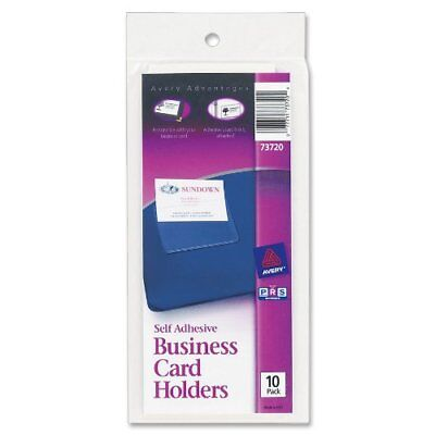 Avery Self-adhesive Business Card Holder - Vinyl - 10 Pack - Clear Ave73720