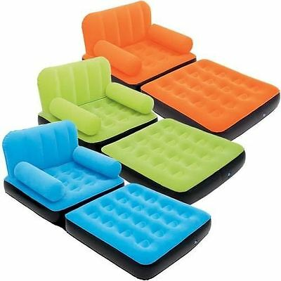 Inflatable bright chair beds.