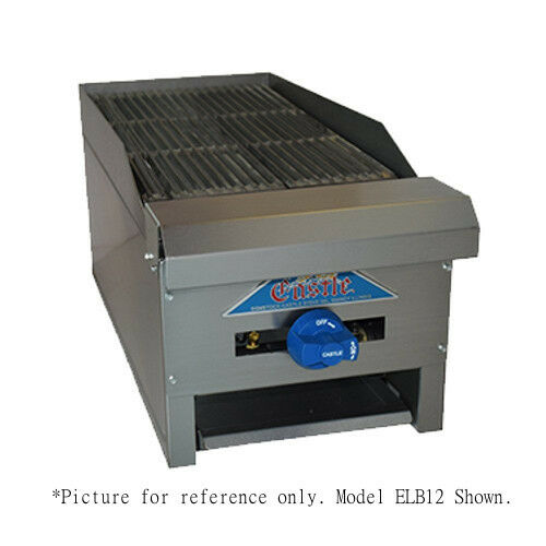 "Comstock Castle Elb18 18"" Countertop Gas Charbroiler With 2 Manual Controls"
