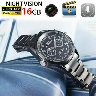 Versteckte Armband (16GB HD1080P Spy Versteckte Kamera Watch Aufzeichnung Cam Armbanduhr meeting)