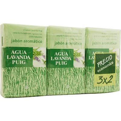 Agua Lavanda Puig Set Of 2 Soaps Plus 1 Free And Each Is 4.4 -