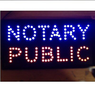 1019 Animated Motion Led Notary Public Sign Onoff Switch Bright Open Light Neon