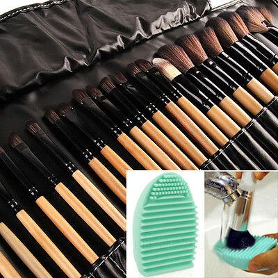 Professional Makeup Brush Cleaner (32Pcs Makeup Brushes Professional Cosmetic Make Up Brush Set Kit + Brush)