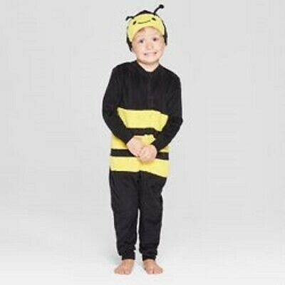 Toddler Halloween Bee Matching Union Suit - Cat & Jack Yellow 12M, Black