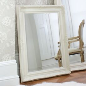 New 3x4 ft cream / ivory wood frame mirror HALF PRICE £69