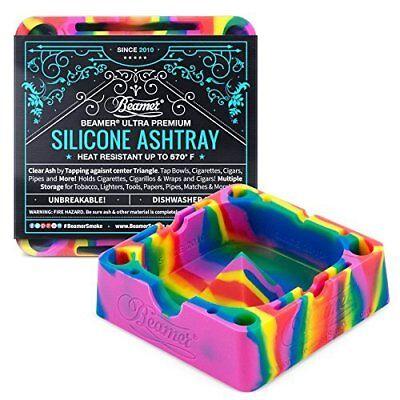 NEW! Beamer - Silicone Ashtray - Tie-Dye