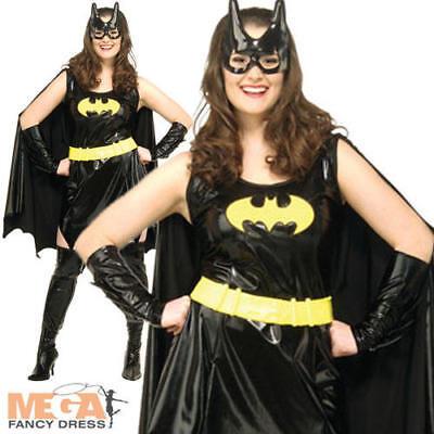 Batgirl Ladies Fancy Dress Batman Superhero Comic Book - Batgirl Kostüme Plus
