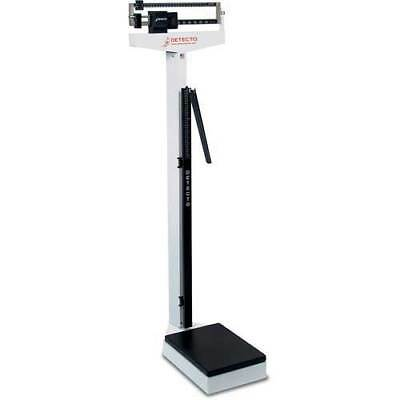 Detecto Physician Medical Body Weight Scale - 400 lb. Capacity with Height Rod