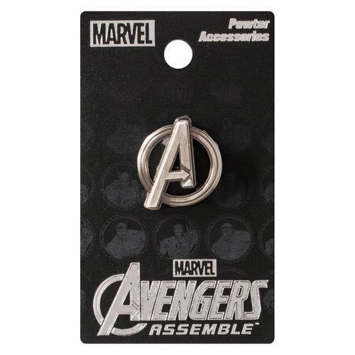 Marvel Comics NEW * Avengers Logo Lapel Pin * Pewter Charm Pin Back Licensed