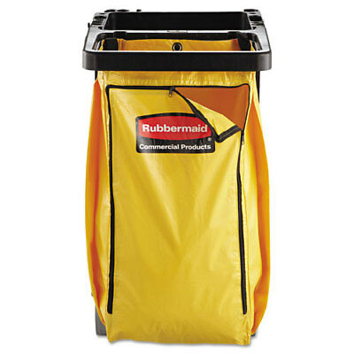 Rubbermaid Commercial Vinyl Cleaning Cart Bag 34 Gal Yellow 17 12w X 10 12d X