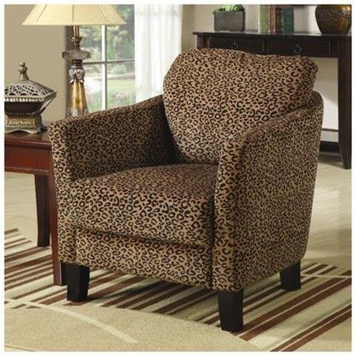 Animal print living room chairs modern house for Animal print furniture home decor