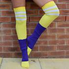 White Cotton Blend Knee-High Socks for Women