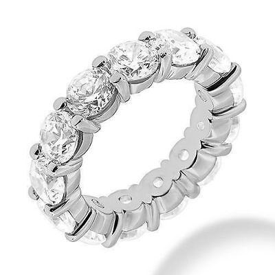 GIA 7.5 carat Round Diamond Eternity Ring Platinum Band 15 x 0.50 ct D SI1 sz 7