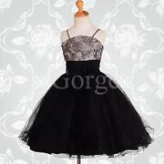 Girls Silver Party Dress