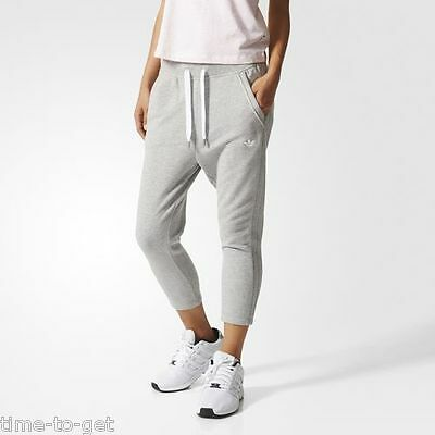 Adidas Originals 34 Track Pants All Sizes Sweatpants French Terry Grey AJ7620
