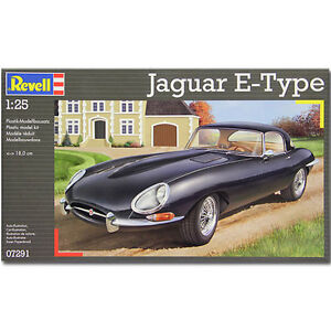 REVELL-Jaguar-E-Type-1-25-Model-Car-Kit-07291
