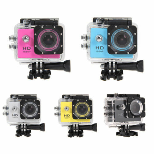 Hd 1080p Camcorder Helmet Sports Full Dv Car Action Water...