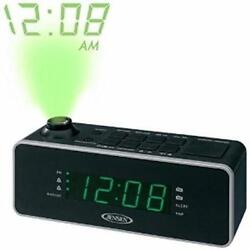 Jensen AM FM Black Dual Alarm Projection Clock Radio Ships from a USA Seller