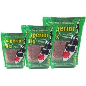 Superior Mix Pond Fish Food Pellets Kockney Koi Floating 2/4/6/8mm 1kg bags NEW