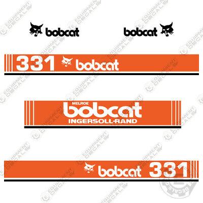 Bobcat 331 Mini Excavator Decals 1990s Ingersoll Rand Melroe Version