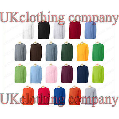 Erwachsene Ultra Cotton T-shirt (Erwachsene Gildan Langärmlig Ultra Cotton T-Shirt Herren Oberteile S M L XL 2xl)