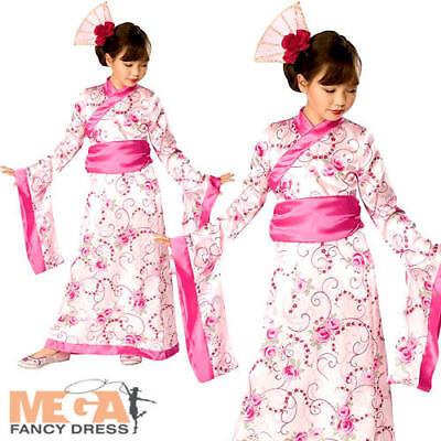 Asian Princess Geisha Girls Fancy Dress Japanese National Outfit Kids Costume  - Asian Princess Dress