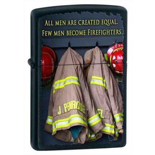 Zippo Lighter - Few Become Firefighters Black Matte - 852585
