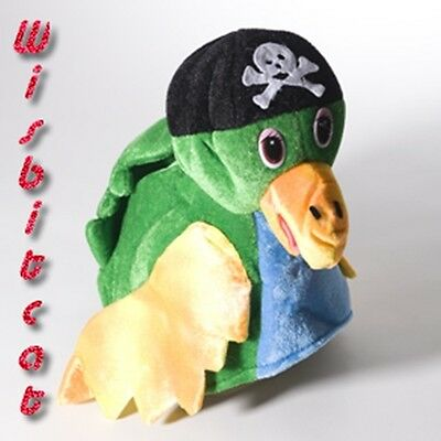 NEW Soft Green Polly PIRATE PARROT HAT for Costume, Luau, Jimmy Buffett Concerts (Parrot Pirate Costume)