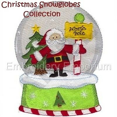 CHRISTMAS SNOW GLOBES COLLECTION - MACHINE EMBROIDERY DESIGNS ON CD OR USB ()