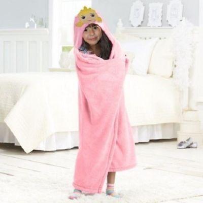 Disney's Princess Hooded Throw Blanket Aurora Cute Applique 40 x 50 Great Gift Princess Throw Blanket