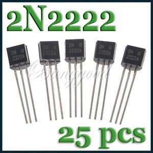 25X-MOT-ON-TO-92-3-PN2222A-2N2222-TRANSISTOR-40V-300MHz-600mA