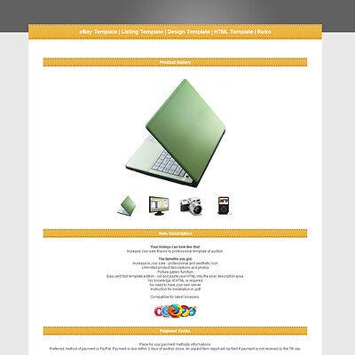 eBay Template | Listing Template | Design Template | HTML Template | Retro