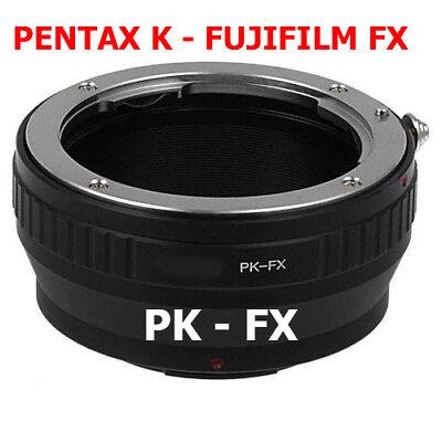 Pentax K - Fujifilm Fx Adaptador Objetivo Pk Lente de A Cámara