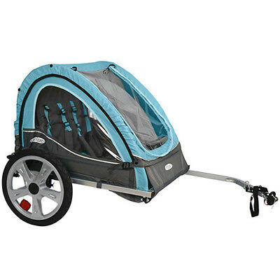 Bike Trailer Kid Carrier Bicycle Double Twin Toddler Baby Infant Pet Dog Folding
