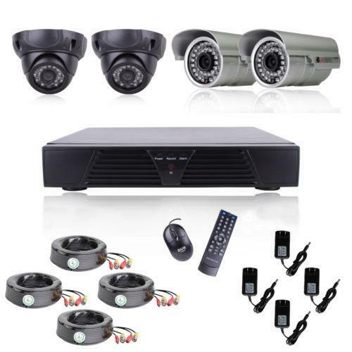 security camera dvr kit ebay. Black Bedroom Furniture Sets. Home Design Ideas