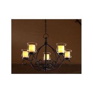 Candle chandelier ebay black candle chandelier aloadofball Gallery
