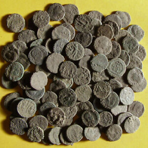Coins Roman bronze coins   uncleaned & artifacts