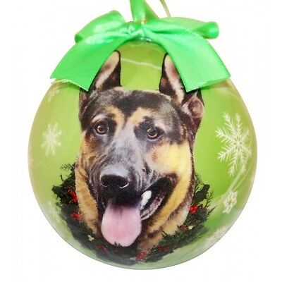 GERMAN SHEPHERD ~ CHRISTMAS BALL ORNAMENT  #75