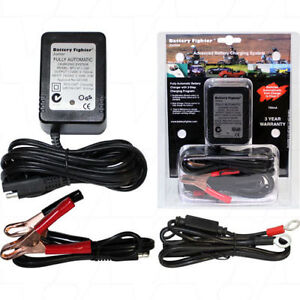 BATTERY FIGHTER BFJ012 12V 750MA 3 STEPS AUTO SLA LEAD ACID CHARGER JETSKI MOWER