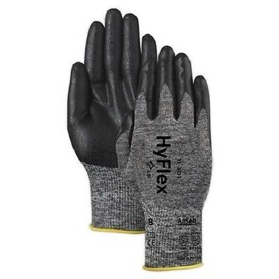 3 Pair Ansell Hyflex 11-801 Foam Nitrile Coating Glove Size 7
