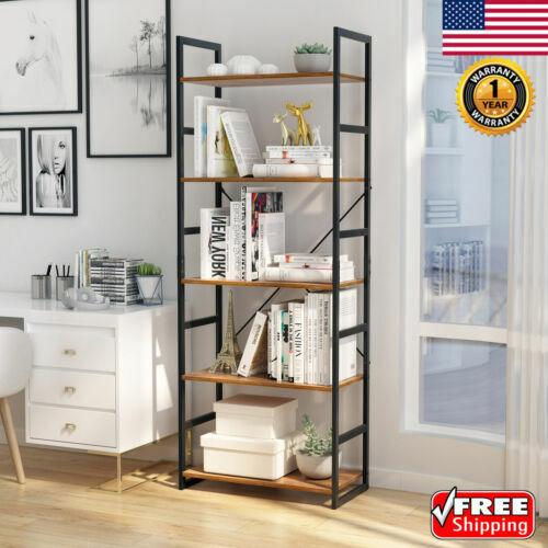 5 Tier Wooden Bookshelf Rack Shelf Unit Storage Organizer Ca